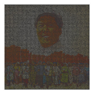 Portrait of Mao Poster