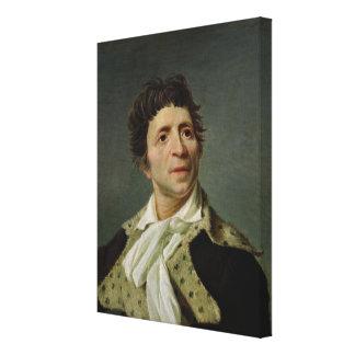 Portrait of Marat  1793 Canvas Print