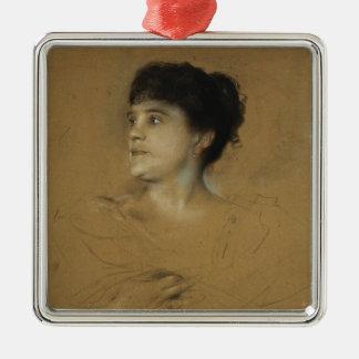 Portrait of Marcella Sembrich, 1891 Christmas Ornament