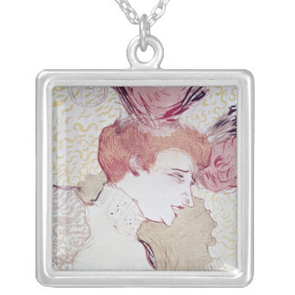 Portrait of Marcelle Lendor, 1895 Silver Plated Necklace