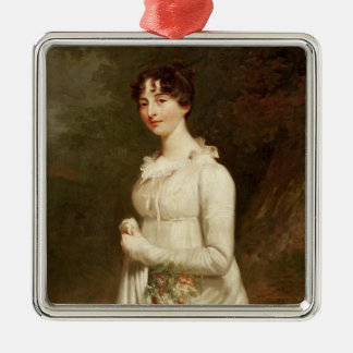 Portrait of Marcia. B. Fox Silver-Colored Square Decoration