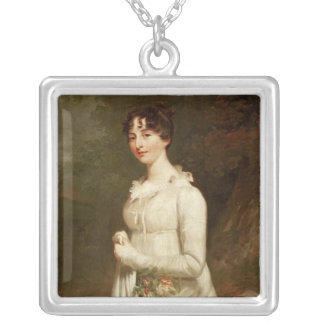 Portrait of Marcia. B. Fox Silver Plated Necklace