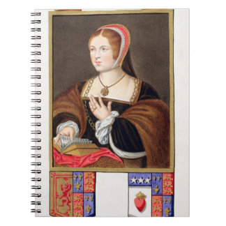 Portrait of Margaret Tudor (1489-1541) Queen of Sc Notebook