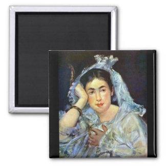 Portrait of Marguerite de Conflans by Manet Fridge Magnets