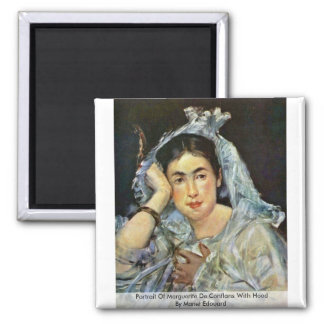 Portrait Of Marguerite De Conflans With Hood Magnet