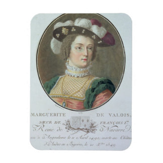 Portrait of Marguerite de Valois (1492-1549), 1787 Rectangular Photo Magnet