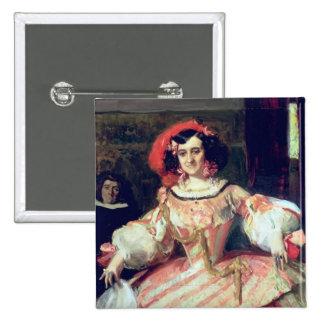 Portrait of Maria Guerrero 15 Cm Square Badge