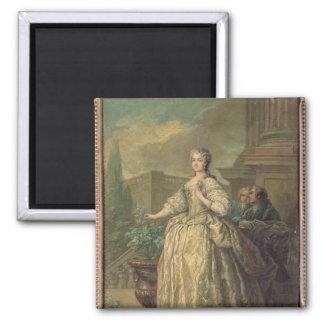 Portrait of Maria Leszczynska  1747 Square Magnet