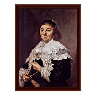 Portrait Of Maria Pietersdr. Olycan By Hals Frans Post Cards