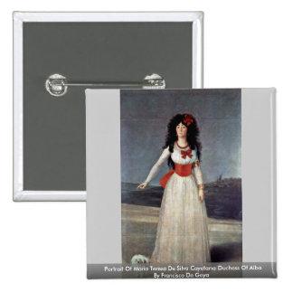 Portrait Of Maria Teresa De Silva Cayetana Duchess 15 Cm Square Badge