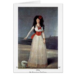 Portrait Of Maria Teresa De Silva Cayetana Duchess Cards