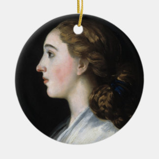Portrait of Maria Teresa de Vallabriga Goya art Round Ceramic Decoration