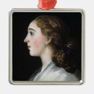 Portrait of Maria Teresa de Vallabriga Goya art Silver-Colored Square Decoration