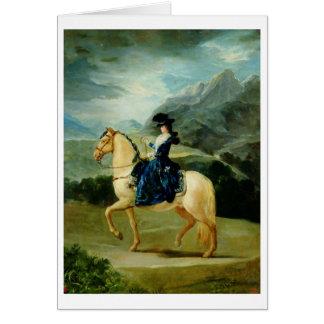 Portrait of Maria Teresa de Vallabriga on horsebac Card