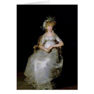 Portrait of Maria Teresa  of Ballabriga Card