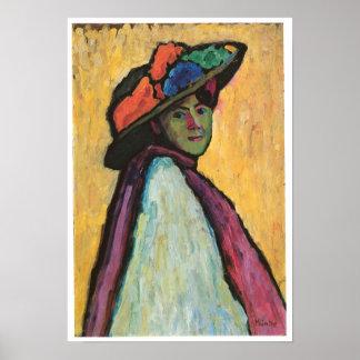 Portrait of Marianne Von Werefkin, 1909 Poster