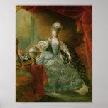 Portrait of Marie Antoinette  Queen of France Poster