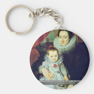Portrait Of Marie Clarisse Wife Of Jan Woverius Keychain