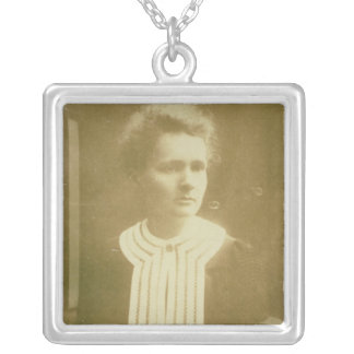 Portrait of Marie Curie Silver Plated Necklace