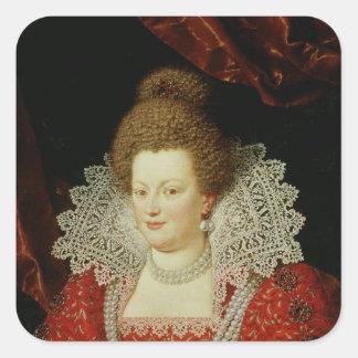Portrait of Marie de Medici Square Sticker