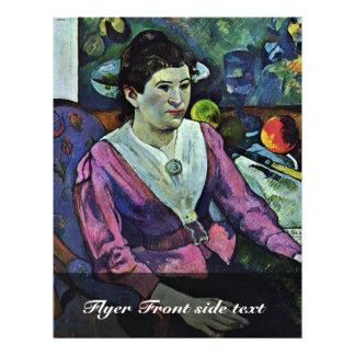 Portrait Of Marie Derrien Lagadu By Gauguin Paul 21.5 Cm X 28 Cm Flyer