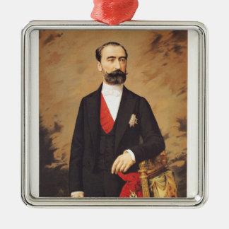 Portrait of Marie Francois Sadi Carnot  1887 Silver-Colored Square Decoration