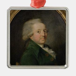 Portrait of Marie-Jean-Antoine-Nicolas Silver-Colored Square Decoration
