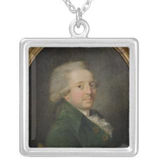 Portrait of Marie-Jean-Antoine-Nicolas Silver Plated Necklace