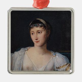 Portrait of Marie-Pauline Bonaparte Silver-Colored Square Decoration