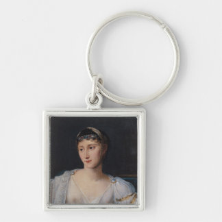 Portrait of Marie-Pauline Bonaparte Silver-Colored Square Key Ring