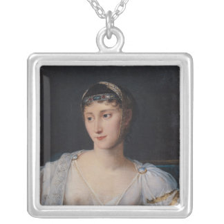 Portrait of Marie-Pauline Bonaparte Silver Plated Necklace