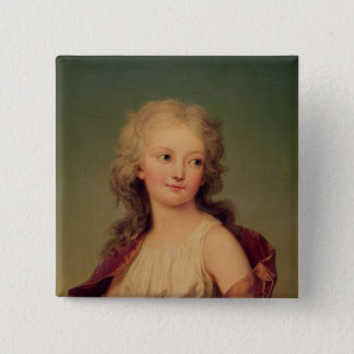Portrait of Marie-Therese Charlotte of France 15 Cm Square Badge
