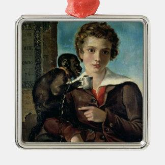 Portrait of Marius Petipa in Ballet Silver-Colored Square Decoration