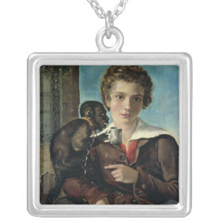 Portrait of Marius Petipa in Ballet Silver Plated Necklace