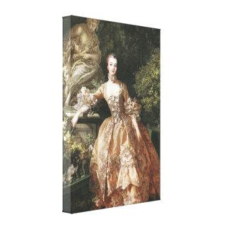 Portrait Of Marquise de Pompadour Gallery Wrap Canvas