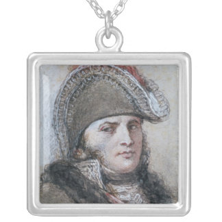 Portrait of Marshal Davout, Prince d'Echmuhl Silver Plated Necklace