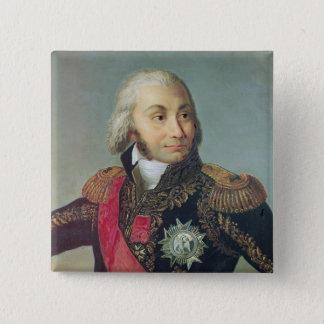 Portrait of Marshal Jean-Baptiste Jourdan 15 Cm Square Badge