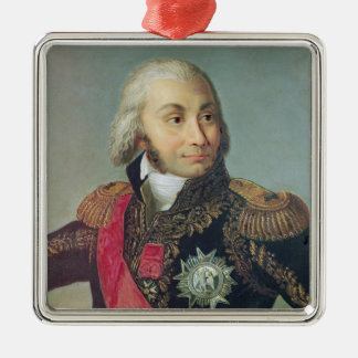 Portrait of Marshal Jean-Baptiste Jourdan Silver-Colored Square Decoration
