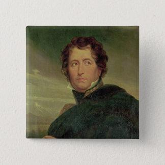 Portrait of Marshal Jean de Dieu Nicolas Soult 15 Cm Square Badge
