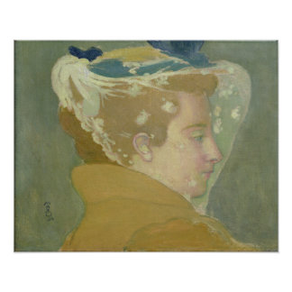 Portrait of Marthe with a White Veil Poster