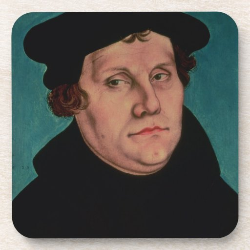 Portrait of Martin Luther, 1529 Coasters