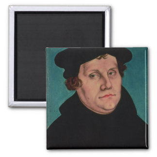 Portrait of Martin Luther, 1529 Square Magnet