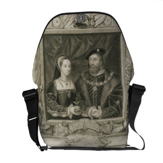 Portrait of Mary (1496-1533) Queen of France, and Messenger Bag