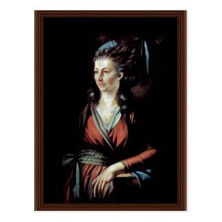 Portrait Of Mary Hess By Johann Heinrich Füssli (B Postcard