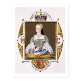 Portrait of Mary of Guise (1515-60) Queen of Scotl Postcard