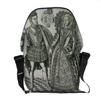 Portrait of Mary, Queen of Scots (1542-87) and Hen Courier Bags