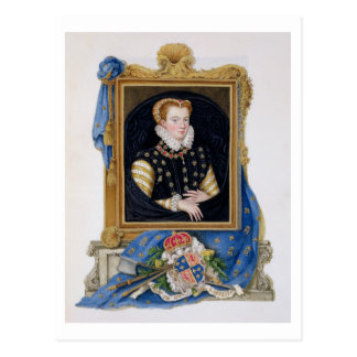 Portrait of Mary Queen of Scots (1542-87) from 'Me Postcard