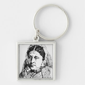 Portrait of Mary Seacole Silver-Colored Square Key Ring