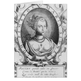 Portrait of Mary Sidney, Countess of Pembroke Greeting Card