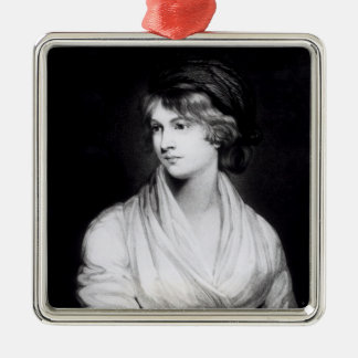 Portrait of Mary Wollstonecraft Godwin Silver-Colored Square Decoration
